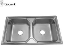 Gudsink 9050 double bowl kitchen sink stainless steel sink