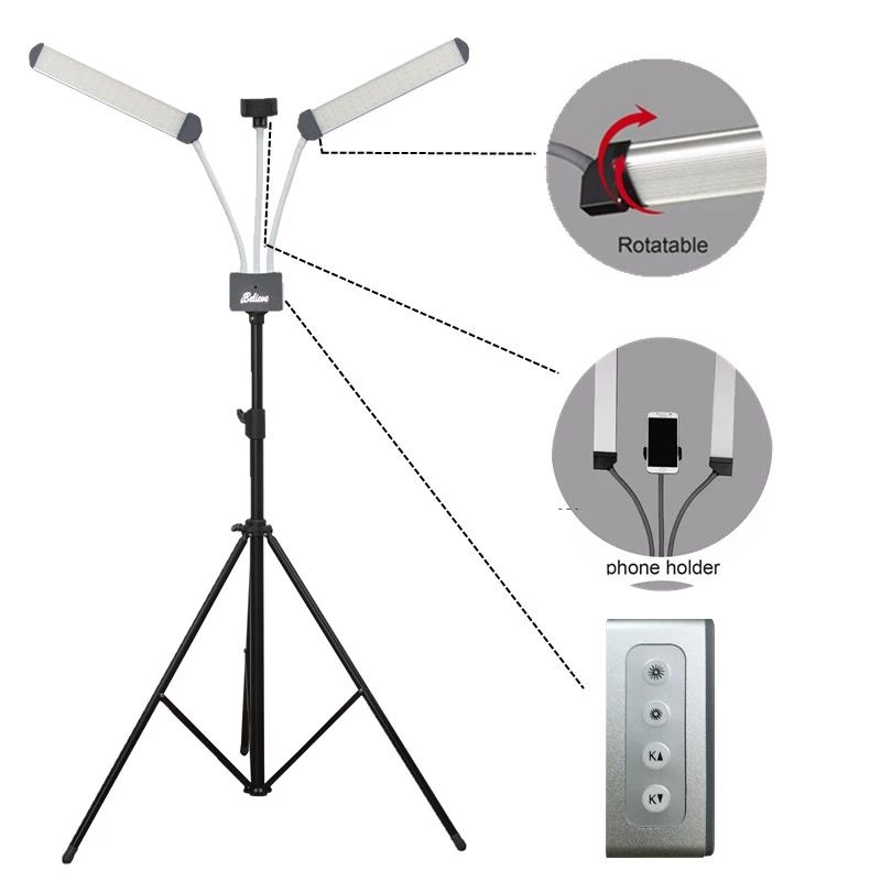 Newest 3200K-6000K Photography Adjustable Luminaire Dimmable LED table lamp