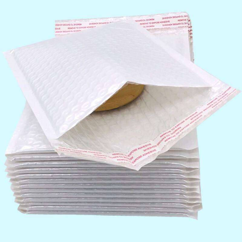 China Supplier Shipping Mailing Air Bubble Padded Envelope White Kraft Bubble Mailer