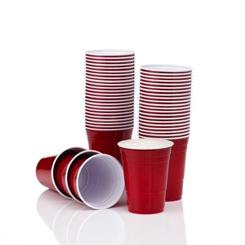 Wholesale Disposable Plastic PS Cups 16oz Red Solo Party Cups Beer Pong Cups