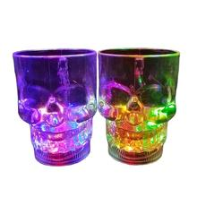 LED plastic drinking Skull Cups