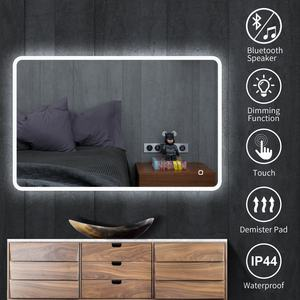 Made in China high quality wall mounted beautiful touch screen illuminated led bathroom smart mirror