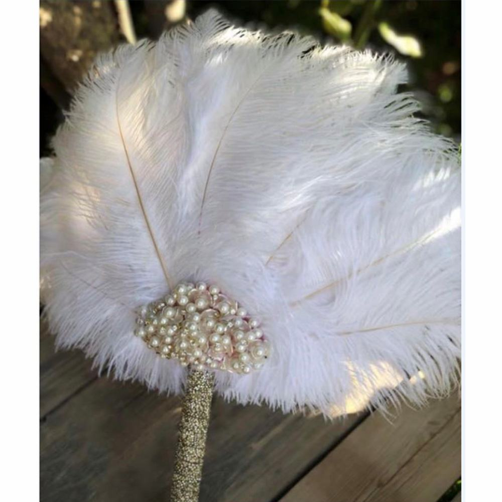 Wholesale Artificial Handmade artificial ostrich feather fans