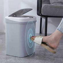 15L Induction Automatic Touchless Smart Infrared Motion Sensor Rubbish Waste Bin Kitchen Trash Can Garbage Bins for Home Car