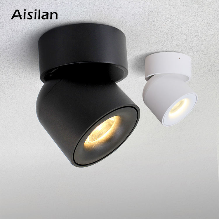 Modern Indoor shop hotel home fixtures Surface mounted anti glare LED ceiling Spotlight