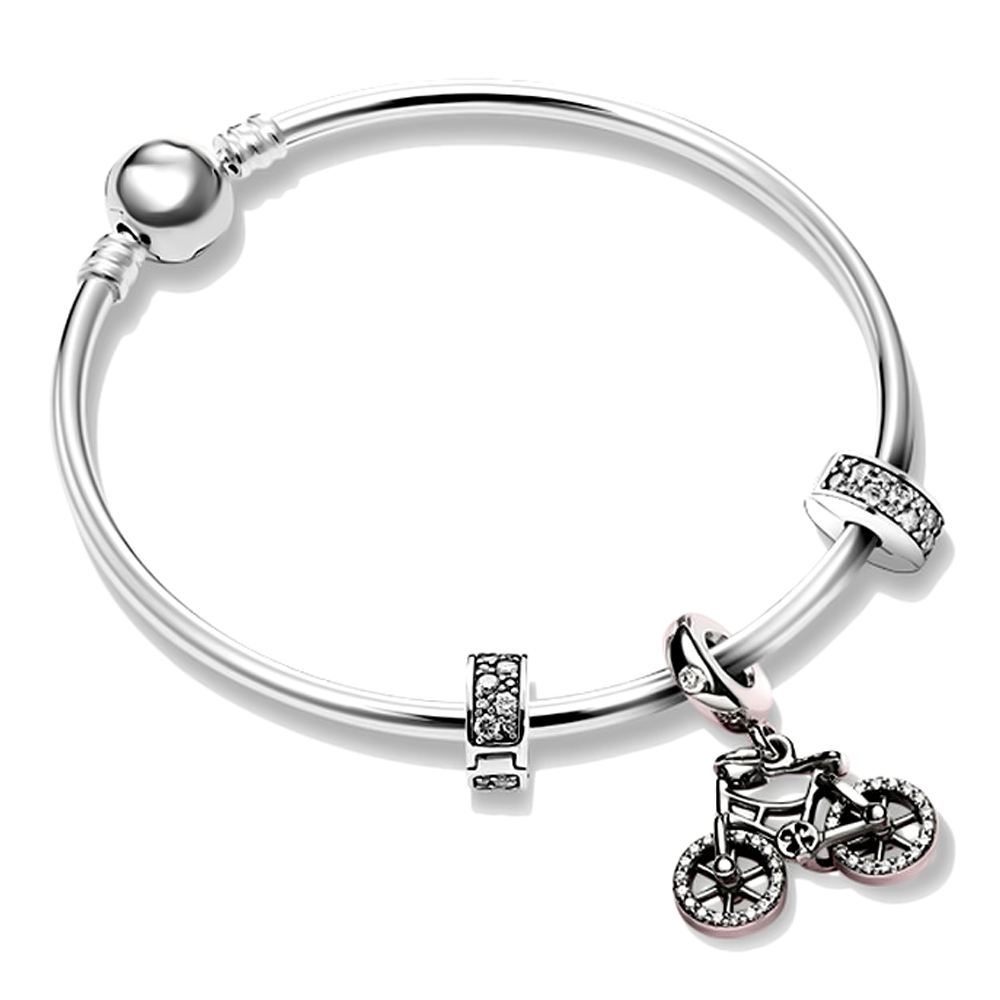 Fashion 925 sterling silver charms for pandora bracelets silver dangle charms for pandora bangle bracelets
