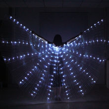 LED Isis Wings Belly Dance Costume Festival LED Light Up Show Angel Wings Prop Wear