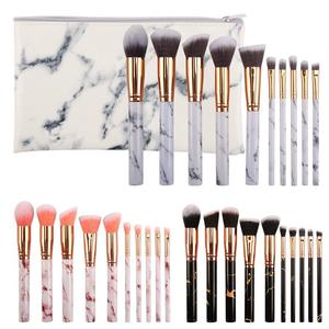 10pcs Marble High Quality Cosmetic brushes white private label professional Make Up Brush Set