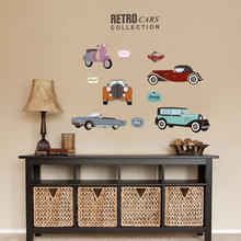 New Cartoon Cars Wall Stickers Kids Study Sticker Children Rooms Decoration Transportation DIY Decals Lovely Room Posters