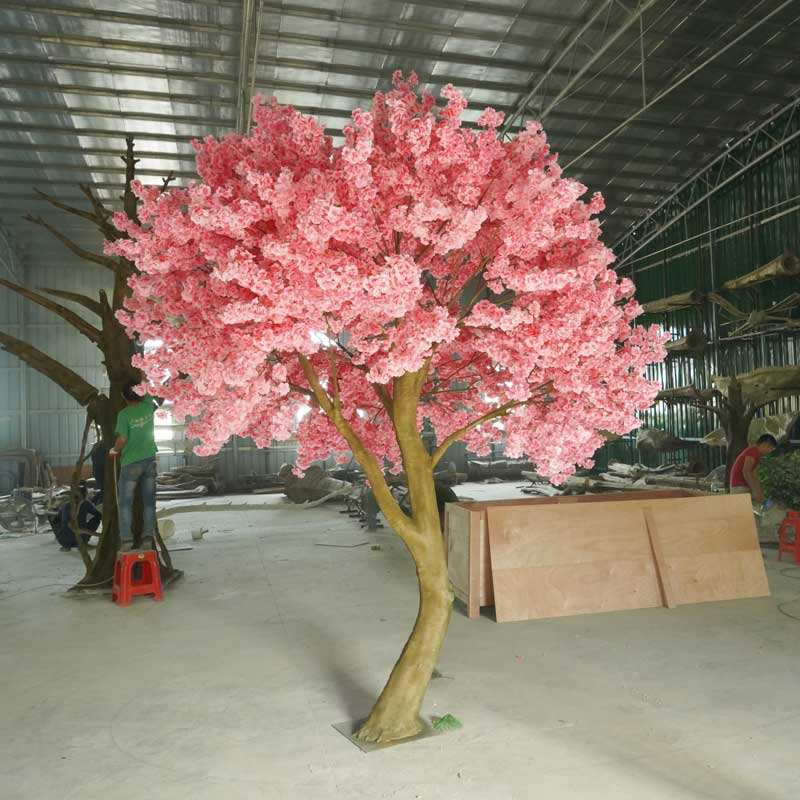 300 cm of Artificial silk fabric rose flower cherry blossom decorative tree for wedding table fairy garden decoration