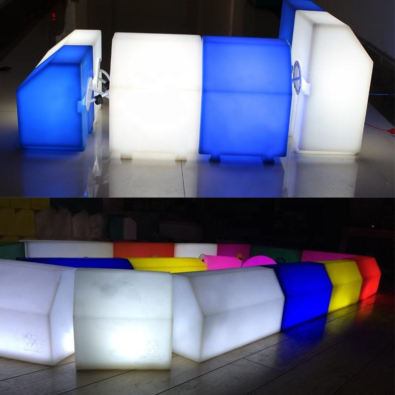 Colorful curb stone led light Plastic curbstone by solar battery