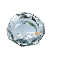 K9 crystal glass ashtray personalized fashion custom printed logo creative advertising promotion octagonal practical ashtray