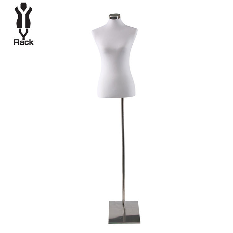 High End Adjustable Half Upper Body Torso foam Tailoring Female Fabric Covered Mannequin Without arm