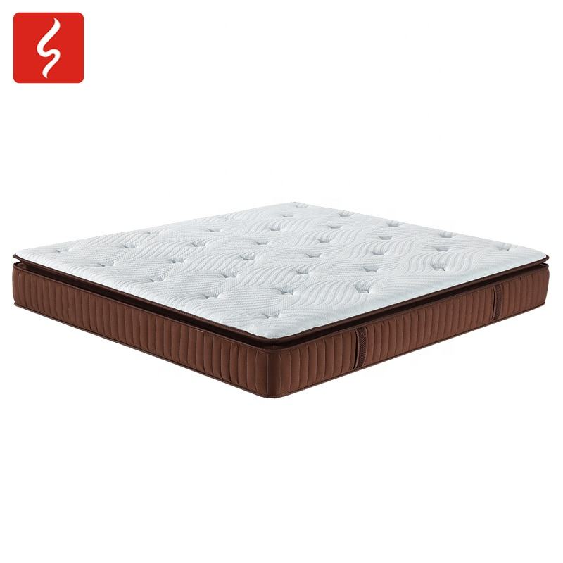 10 inch natural latex visco gel memory foam fold compress colour box package mattress
