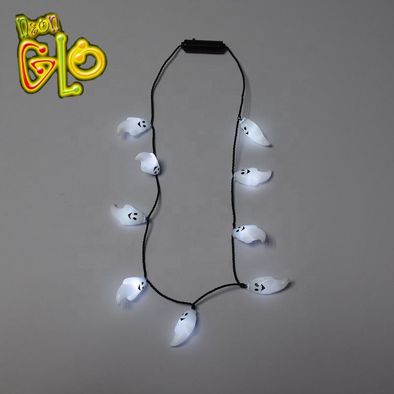 Party En Event Promotie Gift Halloween LED Knippert Ghost Ketting