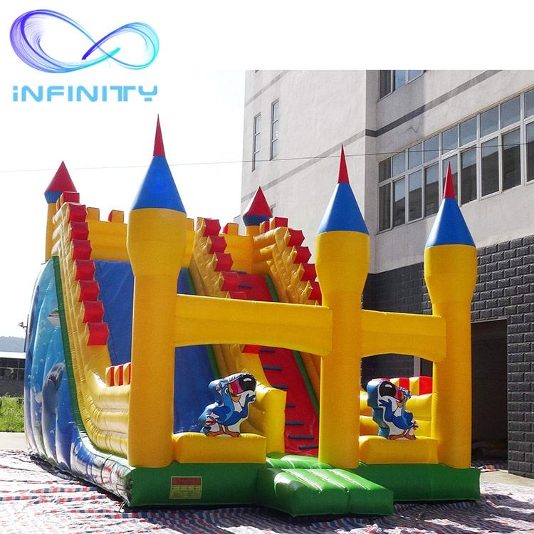 Commercial giant jumping bouncy bird castles slide inflatable castle slide inflatable bouncy castle with slide