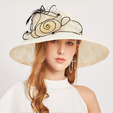 Low price racy wedding hat and church hats fascinator hats for ladies wedding