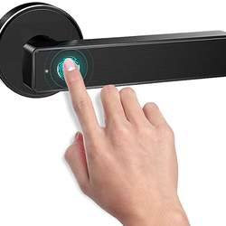Digital Fingerprint Bluetooth APP Key Unlock Design Door Handle Lock/Smart Biometric Fingerprint Handle Door Lock