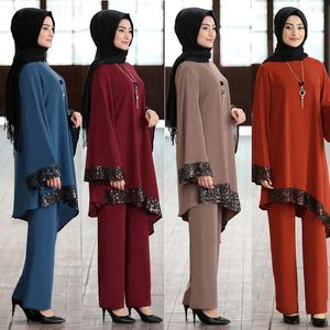 Muslim ethnic clothing loose temperament gamis muslim party wear