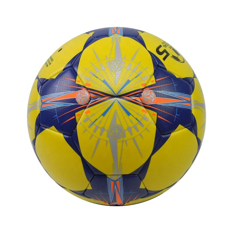Chinese manufacture hand sewing stitched high quality pu soccer ball size 5 with star logo