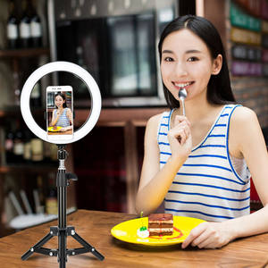 Zomei small Metal flexible selfie ring light tripod stand for mobilphone camera