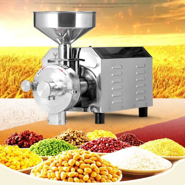 electric rice grinding machine high quality industrial grain grinder chilli powder make machine flour mill machinery