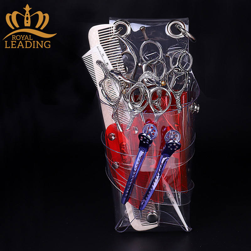 Clear Transparent PVC Shoulder Hair Clipper Barber Scissors Tool Bag
