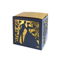 Laser Cut Sweet Bride and Groom Candy Box for Wedding Supplies Party Gift
