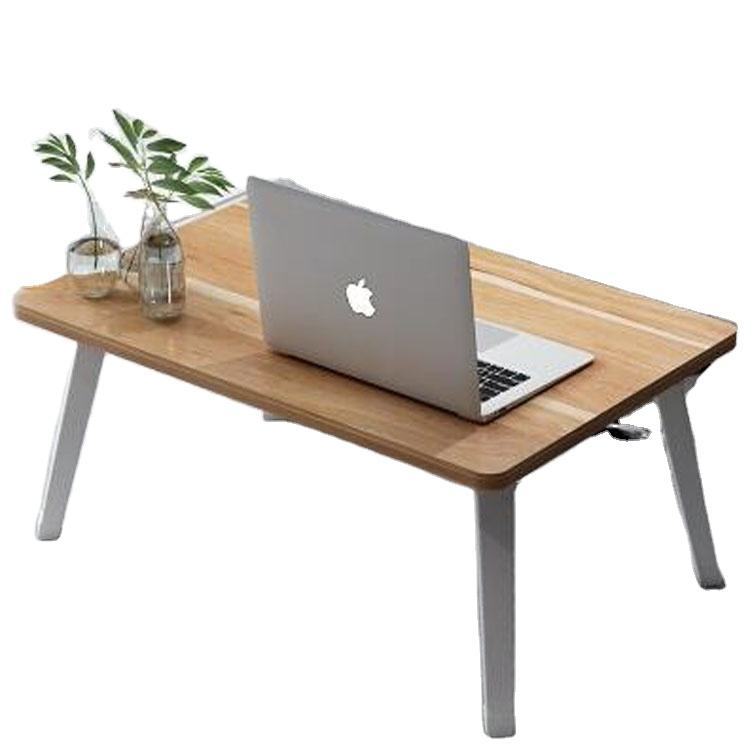 Multifunction wooden portable cheap laptop bed table with foldable leg