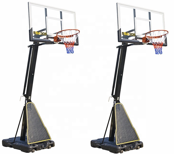 Professional Basketball Dunk Outdoor Heavy Duty Adjustable Height Basketball System