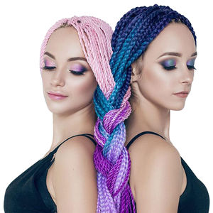 Vast 24inch Synthetic hair Braids Jumbo Braids Long Strands Ombre Crochet Braid Pink Purple Blue Blonde Color beauty stage hair