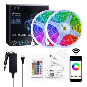 Smart Phone Alexa Control 5m 10m 5050 RGB Color IP65 Waterproof WIFI Wireless LED Strip Light