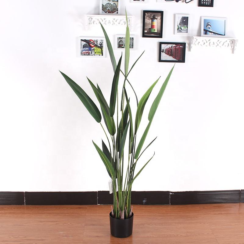 Plastic potted tree traveller palm artificial bird of paradise plant indoor decoration