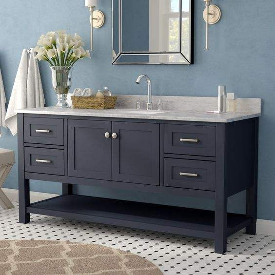 48 inch modern gray wood freestanding small single sink unit bathroom vanities for sale