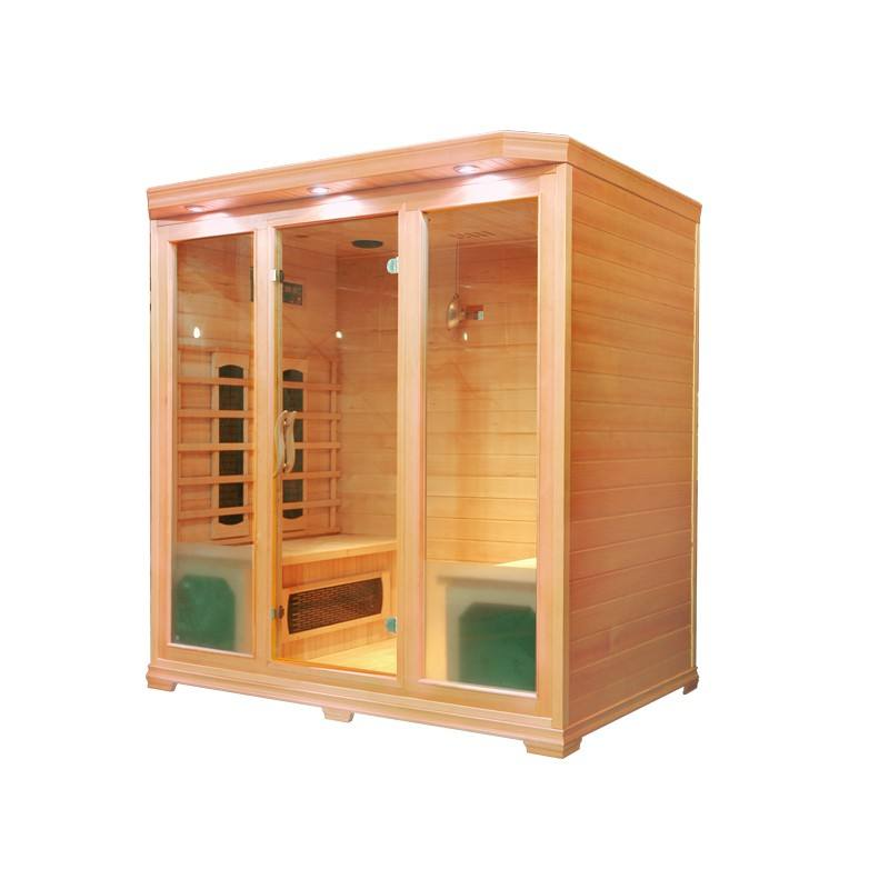 New product Canada hemlock 4 person used infrared saunas for sale