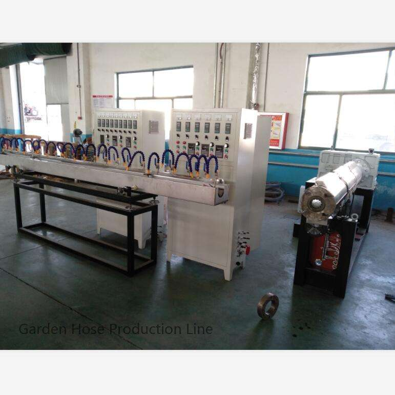 PVC Fiber Reinforced Hose Production Line And Garden Hose Making Machine And PVC Flexible Hose Extrusion Factory Wholesaler
