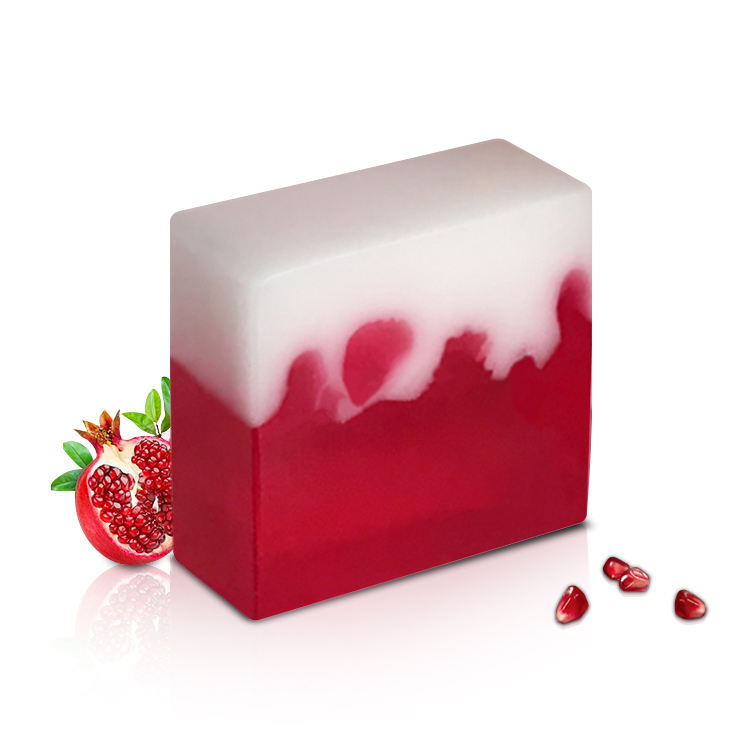 Pomegranate rose essential oil soap Bath / face wash whitening moisturizing Handmade Soap