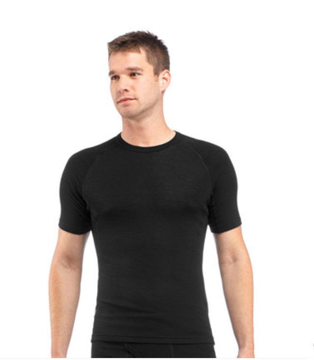Men's Merino Wool T Shirt 100% Merino Wool Men's T- Shirt Base Layer Soft Moisture Wicking Odor Resistance T-shirt Men