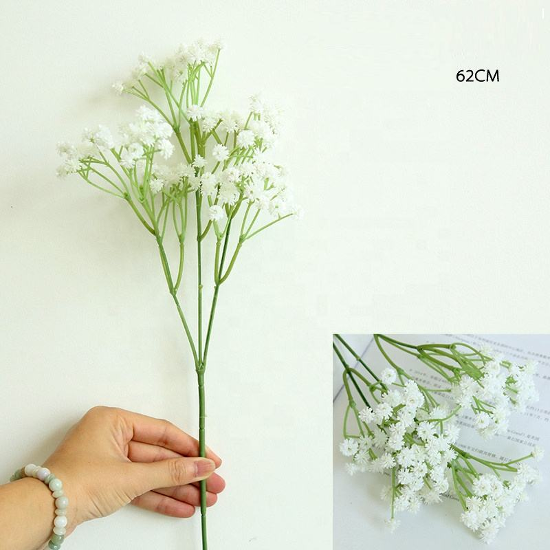 Cross Border Hot Sale 2019 High Grade Soft Rubber Babys Breath Artificial Flowers for Bride Carried Flower