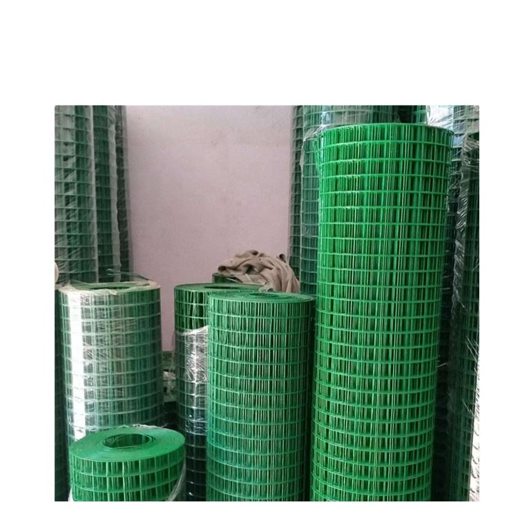 Welded Wire Mesh Prices Welded Mesh Rolls Powder Coated Welded Wire Mesh 1/2 Inch Green Vinyl PVC Coated Welded Wire