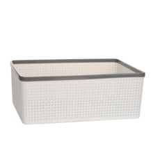 High quality customized laundry plastic rattan basket