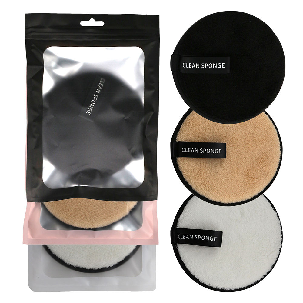 washable Reusable 12CM Cosmetic Face Cotton Makeup Water Powder Magic Wipes Sponge Face Cleansing Makeup Remover pad