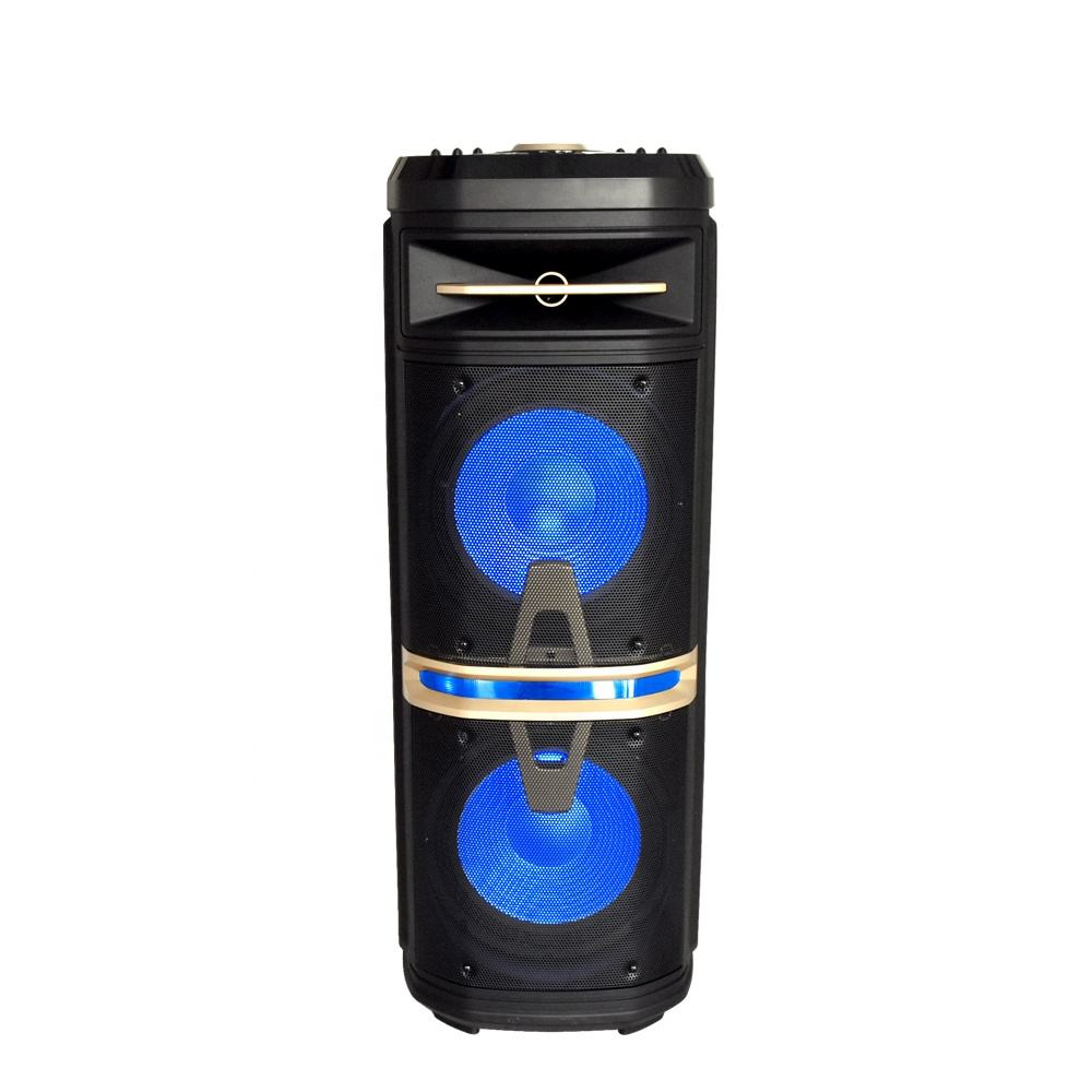 Feiyang karaoke player use big power dual 10 inch portable TWS bluetooth PA system speaker with wireless MIC FG210-01