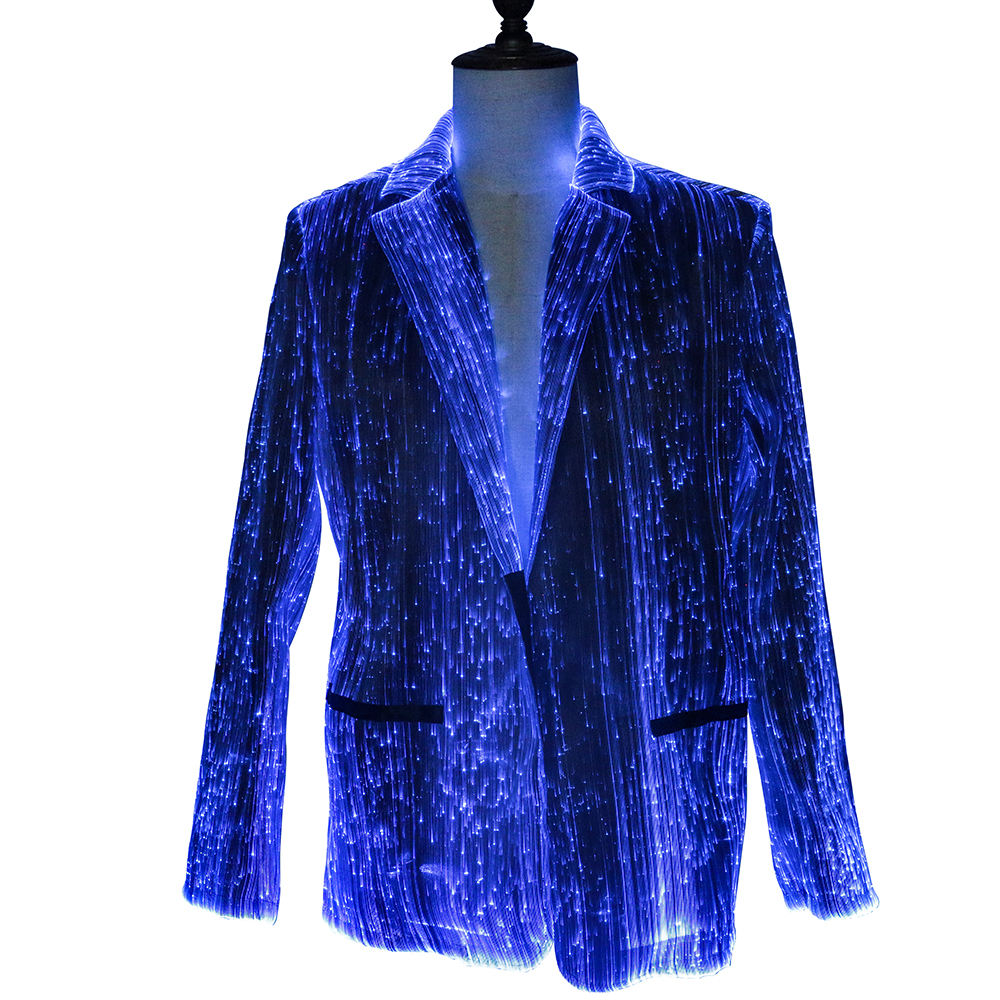 Lights led dance costumes luminous jacket led light jacket for Men Event Party Supplies Stage Props