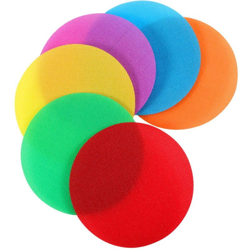 Kids DIY Colorful Carpet Spot Sit Markers Custom Shape Hook And Loop Dot