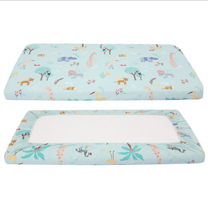 Custom Hot Sale 100% Cotton Breathable Baby Crib Sheet/Baby Bed Fitted Sheet