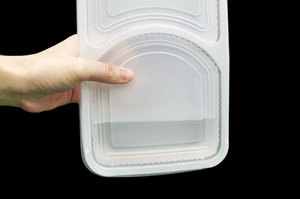 2 Compartimenten Microwavable Blister Pp Plastic Fast Food Takeaway Voedsel Verpakking Containers Bento Wegwerp Lunch Box