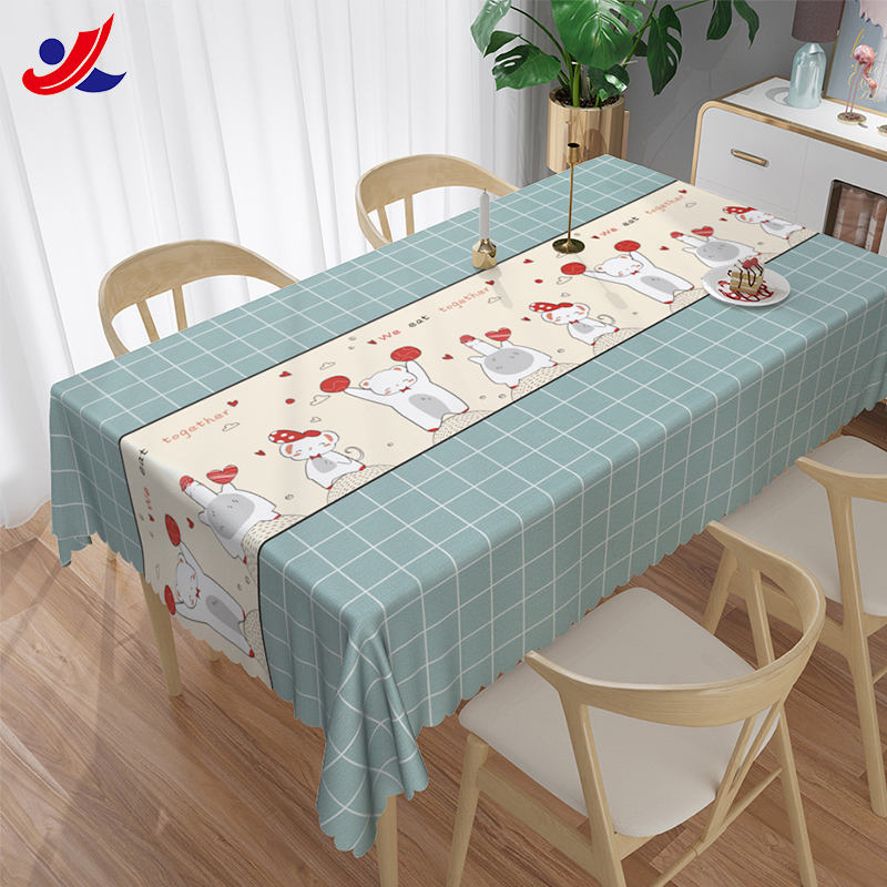 Camping waterproof protective the table cover pvc printed tablecloth in rolls or pieces for party