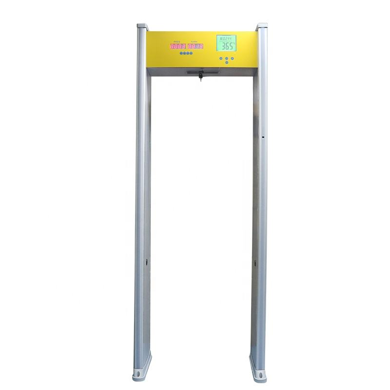 Public Security Metal Detector Gate Walk Through Body Temperature Scanner Detector