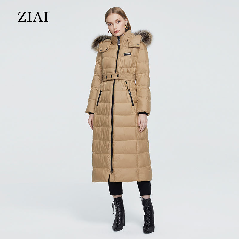 Wholesale long puffer coat with hood thick cotton quilted winter coat women clothing outerwear down coat